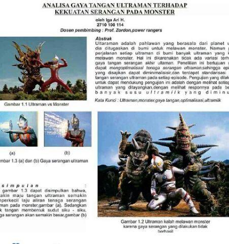 Skripsi Analisa Gaya Tangan Ultraman Terhadap Kekuatan Serangan Pada Monster