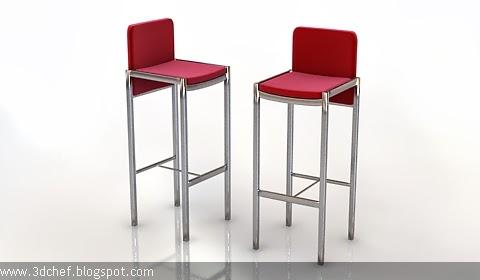 bar stool 3d model free