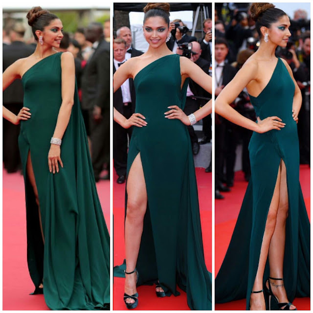 Deepika Padukone in Brandon Maxwell At Cannes 2017