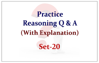 Practice Reasoning Questions (with explanation) for Upcoming Bank PO and Clerk Exams 2015 Set-20