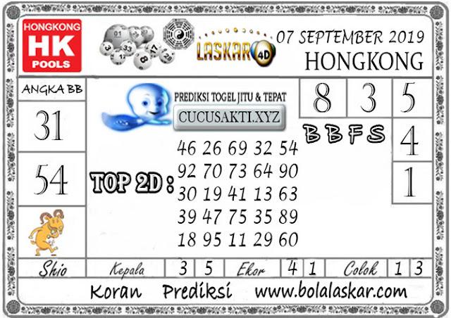 Prediksi Togel HONGKONG LASKAR4D 07 SEPTEMBER 2019