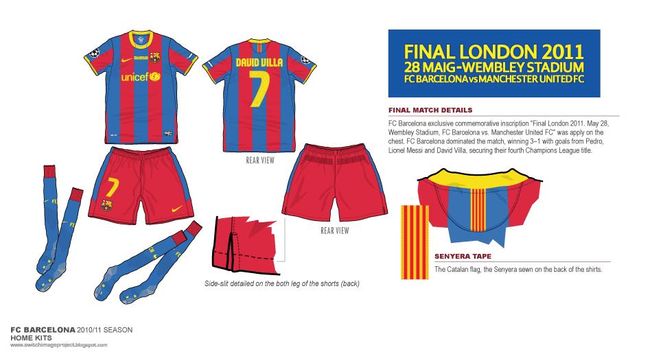 d303bb7e8 Football teams shirt and kits fan  FC Barcelona 2011 UEFA Champions ...