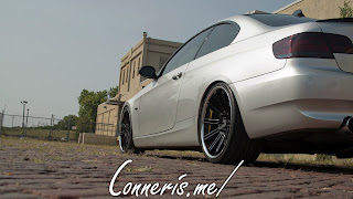 BMW 335i E92 rear angle low brick