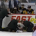 NHL linesman Michel Cormier takes scary fall into boards