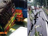 Awas Hoax! Video Truk Goyang dan Foto Jalan Retak Bukan Akibat Gempa Banten