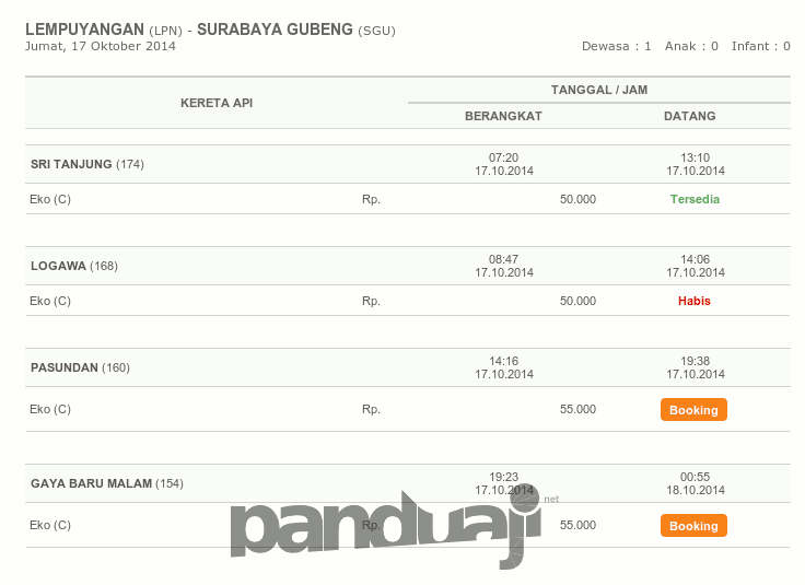 booking tiket di KAI
