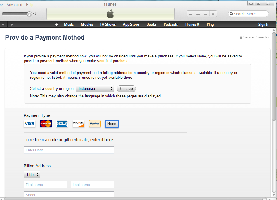 Solusi To Redeem a Code or Gift Certificate Apple id