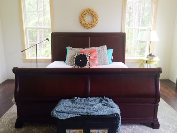 a thrifty transformation: sleigh bed before and after