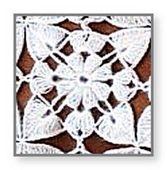 квадратный мотив крючком из мохера