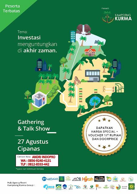 Gathering Kampung Kurma Cipanas - Investasi Tanah Kavling Islami Kebun Kurma