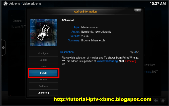 how to get channel frm kodi