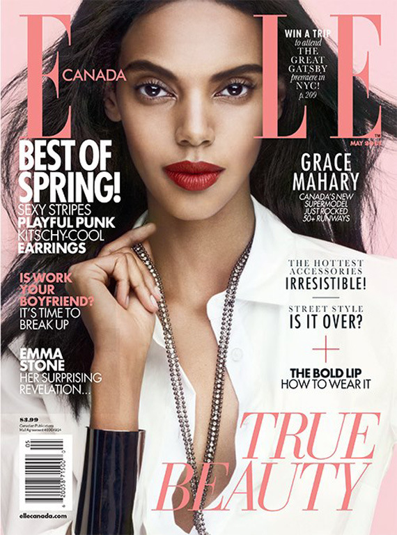 May 2013 Fashion Magazine Covers: Bang! Magazine.: African Model: Grace Mahary Covers Elle
