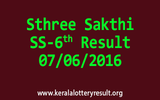 Sthree Sakthi Lottery SS 6 Results 7-6-2016