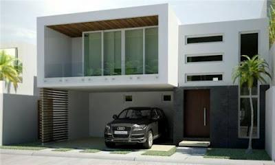 Fachadas de casas estilo minimalista proyectos de casas for Casa minimalista 80 metros