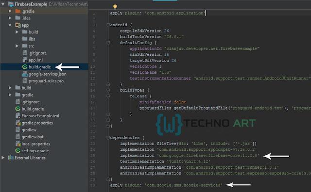 apply pluign dan menambahkan library firebase analitycs