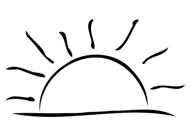 Dibujo de un Puesta de sol para colorear