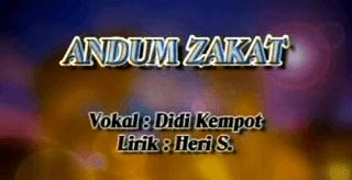 Lirik Lagu Andum Zakat - Didi Kempot