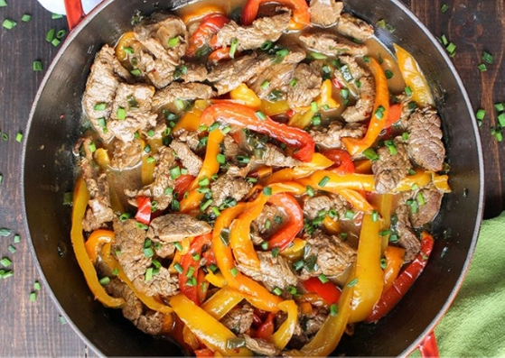 PALEO WHOLE 30 EASY PEPPER STEAK