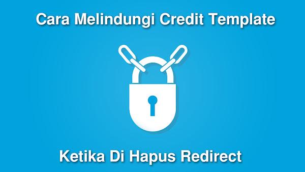 Cara Menghapus Credit Link Template Yang Di Redirect