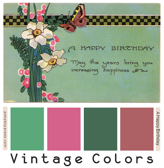 Vintage Color Palettes - A Happy Birthday