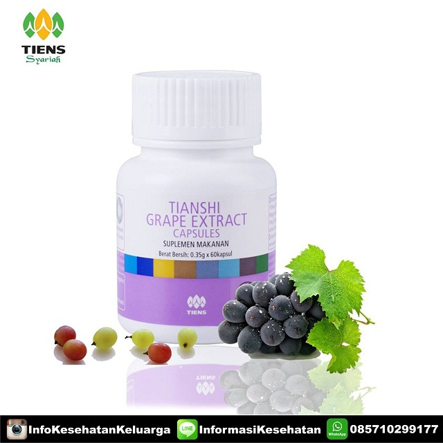 Grape Extract Tiens menurunkan kolesterol