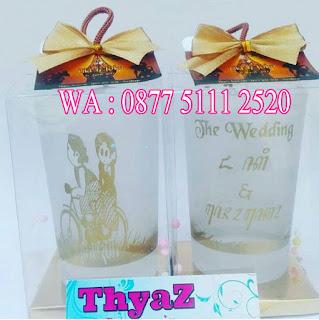 Souvenir Pernikahan Gelas Pernikahan Model Jawa