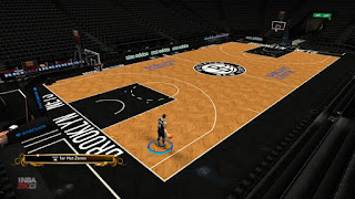 NBA 2K13 Brooklyn Nets HD Court Mods