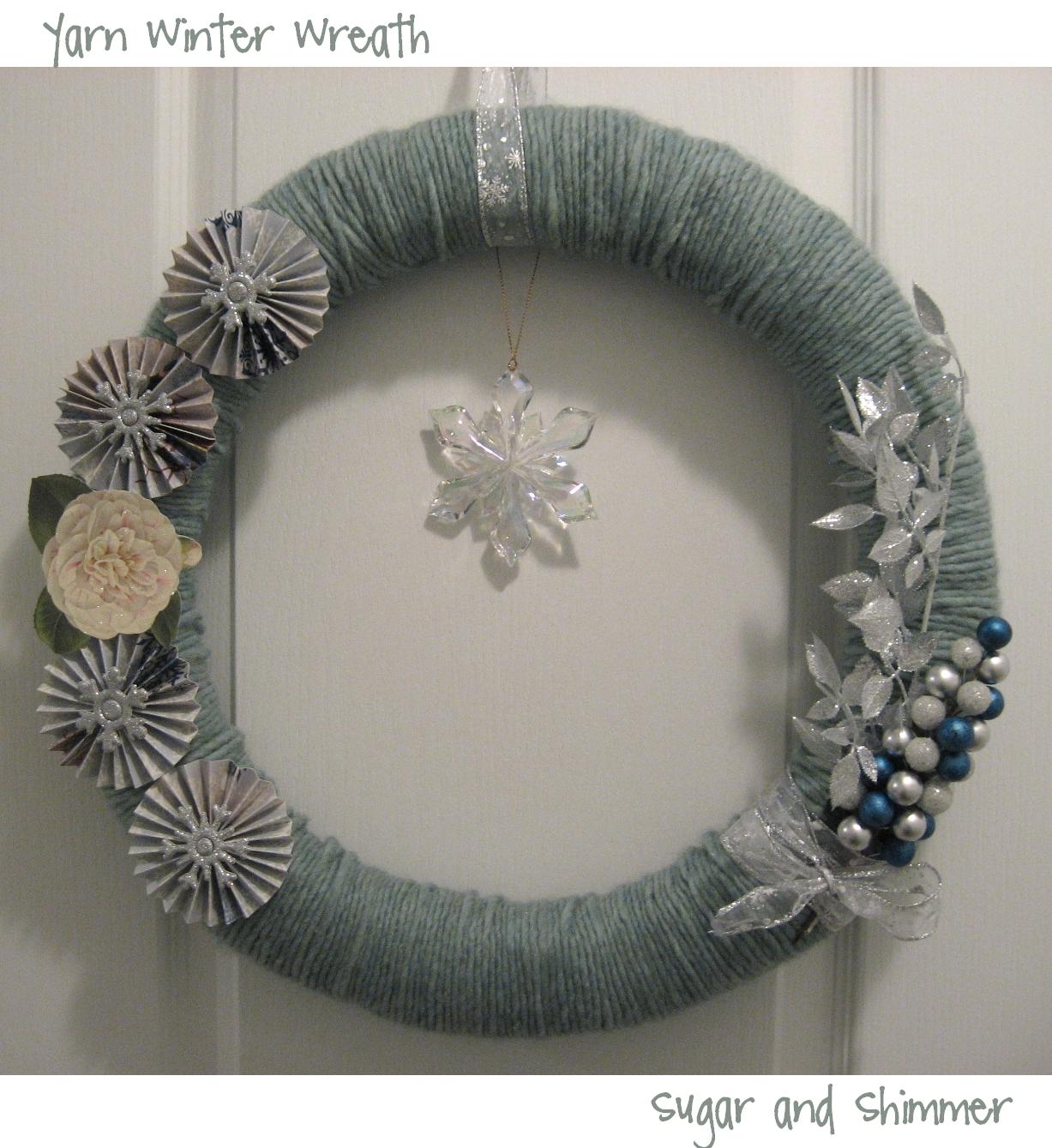 Sugar and Shimmer: Yarn Winter Wreath