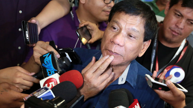 Duterte vowed to extend more protection to the country's journalists