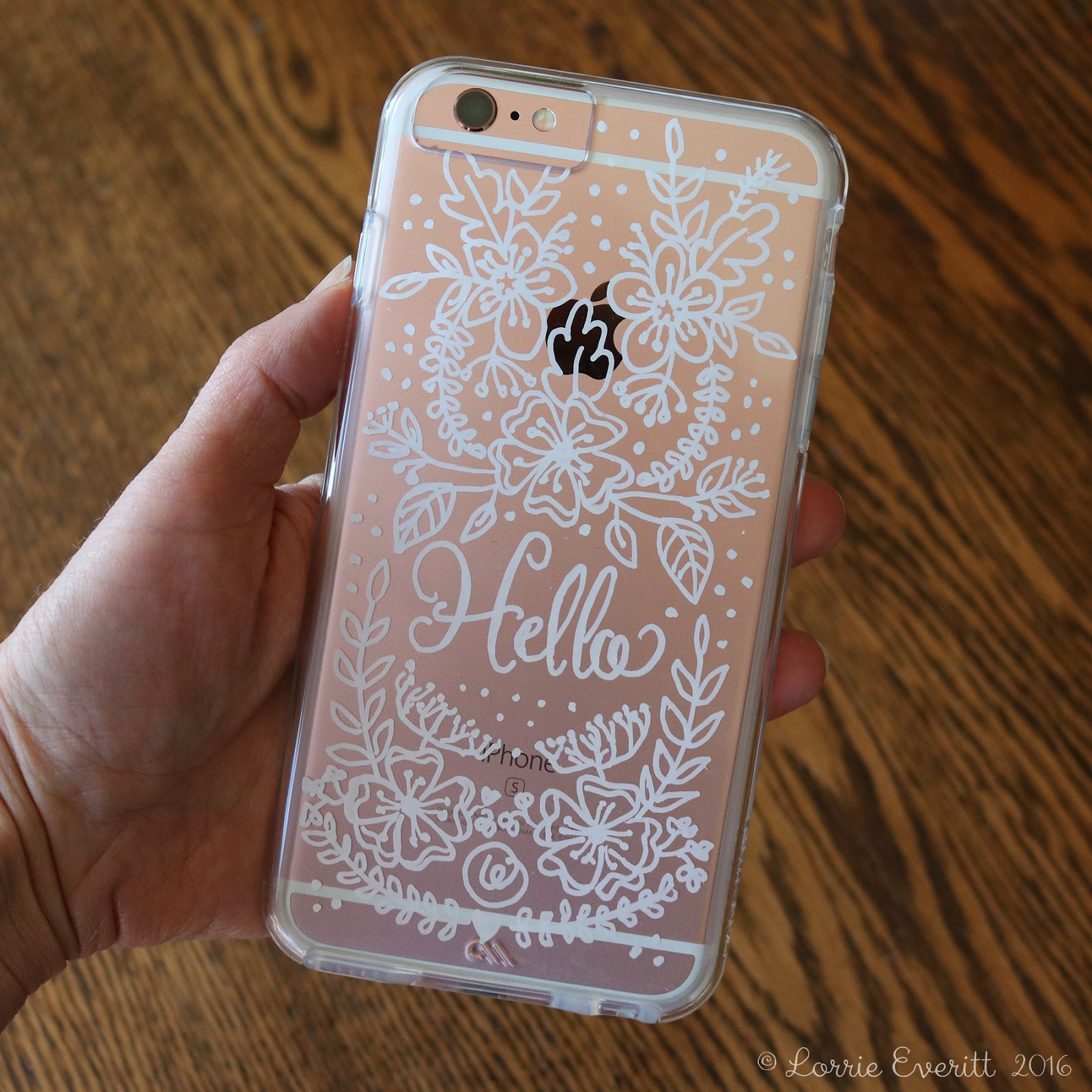 Lorrie everitt studio personalize your clear phone case for Diy custom phone case