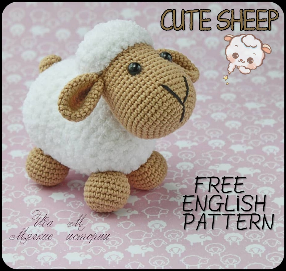 Amigurumi Sheep Pattern | Modelos de crochê, Artesanato croche ... | 1080x1140