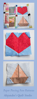 Como hacer una quilt con paper piecing patterns