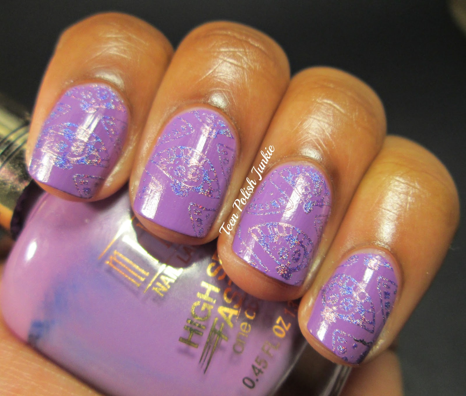 Teen Polish Junkie: Purple Nails for Military Kids