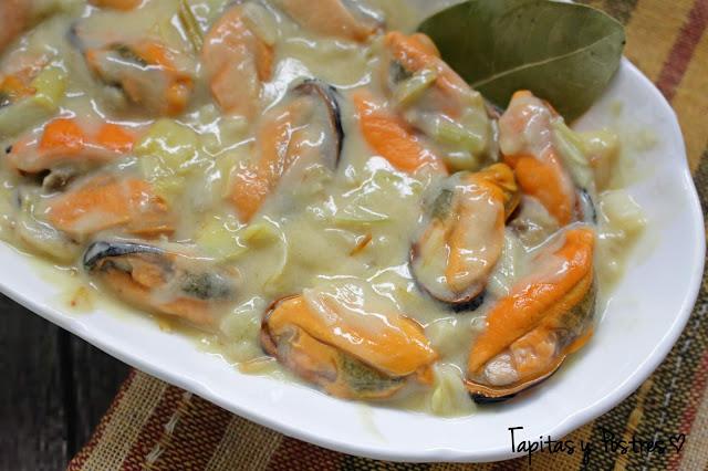 Mejillones en Salsa de Limón y Mostaza Tapitas y Postres