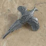 Partridge brooch pin by A R Brown in pewter.