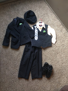 Ring bearer outfit for wedding this weekend