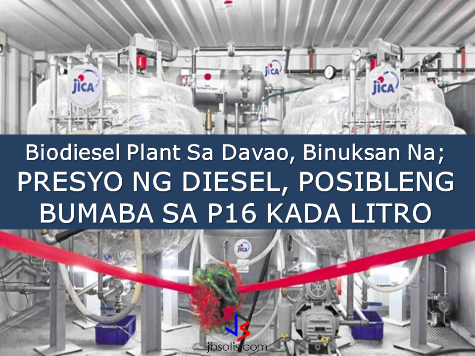 "Aside from preventing oil dump on waterways, rivers and others, the newly opened biodiesel plant in Davao city could possibly lower the price of diesel to P16 per liter.  With the initiative of the city government and help of Japan International Cooperation Agency (JICA) and two japan-based company, the plant which can process at least 1,000 liters of used cooking oil to biodiesel  is now ready to operate. Shigeto Mizumo, of the company Biomass Japan Inc. said that the city could easily supply the daily requirement of used cooking oil as shown by a feasibility study. He also said that a year before the plant is completed, they were able to collect at least 250,000 liters of used cooking oil from around the city. According to assistant city administrator Dwight Tristan Domingo, there are at least 10 villages that could be used as used cooking oil collection points. ""Advertisements"" The opening ceremonies for the plant was led by Mayor Sara Duterte. She said  that the biodiesel produced at the plant would cost only P16 per liter compared to the price of regular diesel which is P29 per liter.  The biodiesel produced at the plant would be tested on 30 jeepneys for the next three monthys to determine fuel efficiency against regular diesel.  Mizumo said that the biodiesel produced at the plant had already been tested on several government garbage trucks and ""there has been no problem at all."" After the three months dry run on 30 jeepneys, the biodiesel will be out for public vehicles. Source: Inquirer  ""Sponsored Links"" Read More:  A female Overseas Filipino Worker (OFW) working in Saudi Arabia was killed by an unknown gunman in Cabatuan, Isabela on Sunday. The OFW is in the country to enjoy her vacation and to celebrate her bithday with her loved ones. The victim's mother, Betty Ordonez, said that Jenny Constantino, 29, arrived in the country from Saudi Arabia for a vacation.         China's plans to hire Filipino household workers to their five major cities including Beijing and Shanghai, was reported at a local newspaper Philippine Star. it could be a big break for the household workers who are trying their luck in finding greener pastures by working overseas  China is offering up to P100,000  a month, or about HK$15,000. The existing minimum allowable wage for a foreign domestic helper in Hong Kong is  around HK$4,310 per month.  Dominador Say, undersecretary of the Department of Labor and Employment (DOLE), said that talks are underway with Chinese embassy officials on this possibility. China's five major cities, including Beijing, Shanghai and Xiamen will soon be the haven for Filipino domestic workers who are seeking higher income.  DOLE is expected to have further negotiations on the launch date with a delegation from China in September.   according to Usec Say, Chinese employers favor Filipino domestic workers for their English proficiency, which allows them to teach their employers' children.    Chinese embassy officials also mentioned that improving ties with the leadership of President Rodrigo Duterte has paved the way for the new policy to materialize.  There is presently a strict work visa system for foreign workers who want to enter mainland China. But according Usec. Say, China is serious about the proposal.   Philippine Labor Secretary Silvestre Bello said an estimated 200,000 Filipino domestic helpers are  presently working illegally in China. With a great demand for skilled domestic workers, Filipino OFWs would have an option to apply using legal processes on their desired higher salary for their sector. Source: ejinsight.com, PhilStar Read More:  The effectivity of the Nationwide Smoking Ban or  E.O. 26 (Providing for the Establishment of Smoke-free Environment in Public and Enclosed Places) started today, July 23, but only a few seems to be aware of it.  President Rodrigo Duterte signed the Executive Order 26 with the citizens health in mind. Presidential Spokesperson Ernesto Abella said the executive order is a milestone where the government prioritize public health protection.    The smoking ban includes smoking in places such as  schools, universities and colleges, playgrounds, restaurants and food preparation areas, basketball courts, stairwells, health centers, clinics, public and private hospitals, hotels, malls, elevators, taxis, buses, public utility jeepneys, ships, tricycles, trains, airplanes, and  gas stations which are prone to combustion. The Department of Health  urges all the establishments to post ""no smoking"" signs in compliance with the new executive order. They also appeal to the public to report any violation against the nationwide ban on smoking in public places.   Read More:          ©2017 THOUGHTSKOTO www.jbsolis.com SEARCH JBSOLIS, TYPE KEYWORDS and TITLE OF ARTICLE at the box below Smoking is only allowed in designated smoking areas to be provided by the owner of the establishment. Smoking in private vehicles parked in public areas is also prohibited. What Do You Need To know About The Nationwide Smoking Ban Violators will be fined P500 to P10,000, depending on their number of offenses, while owners of establishments caught violating the EO will face a fine of P5,000 or imprisonment of not more than 30 days. The Department of Health  urges all the establishments to post ""no smoking"" signs in compliance with the new executive order. They also appeal to the public to report any violation against the nationwide ban on smoking in public places.          ©2017 THOUGHTSKOTO Dominador Say, undersecretary of the Department of Labor and Employment (DOLE), said that talks are underway with Chinese embassy officials on this possibility. China's five major cities, including Beijing, Shanghai and Xiamen will soon be the destination for Filipino domestic workers who are seeking higher income. ©2017 THOUGHTSKOTO"