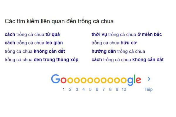 cách sử dụng gợi ý từ google
