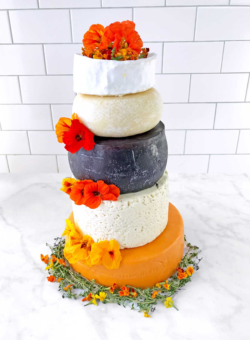 "5-Tier Wedding ""Cake"" Made of Cheese Wheels, So Consider Me Engaged"