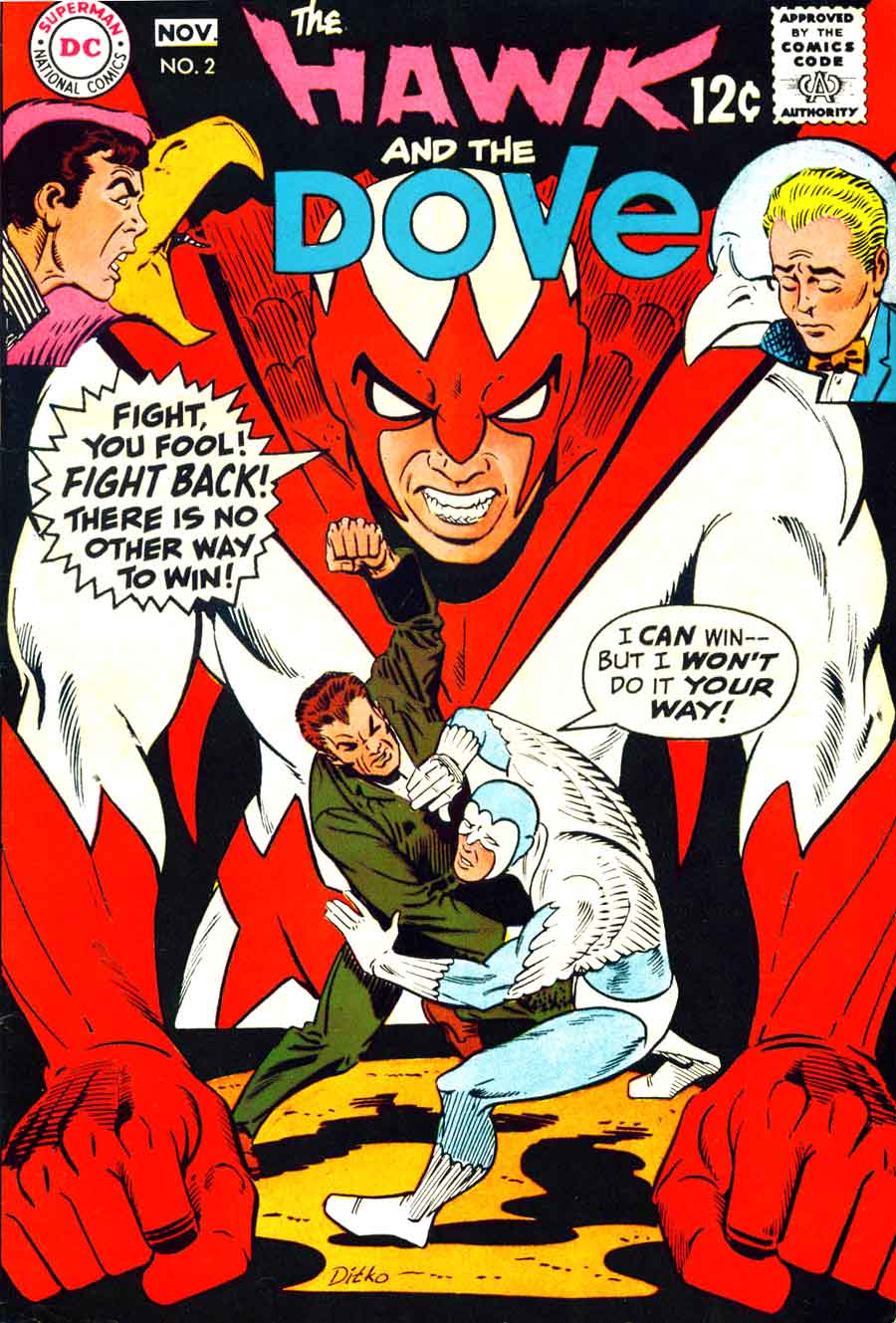 Hawk and the Dove v1 #2 dc comic book cover art by Steve Ditko