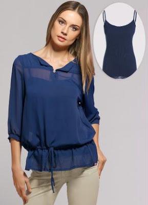 blusinha blusa azul mulher feminina blue blouse shirt camicetta blu bleue linda fashion moda tendencia marinho escuro transparente transparencia manga