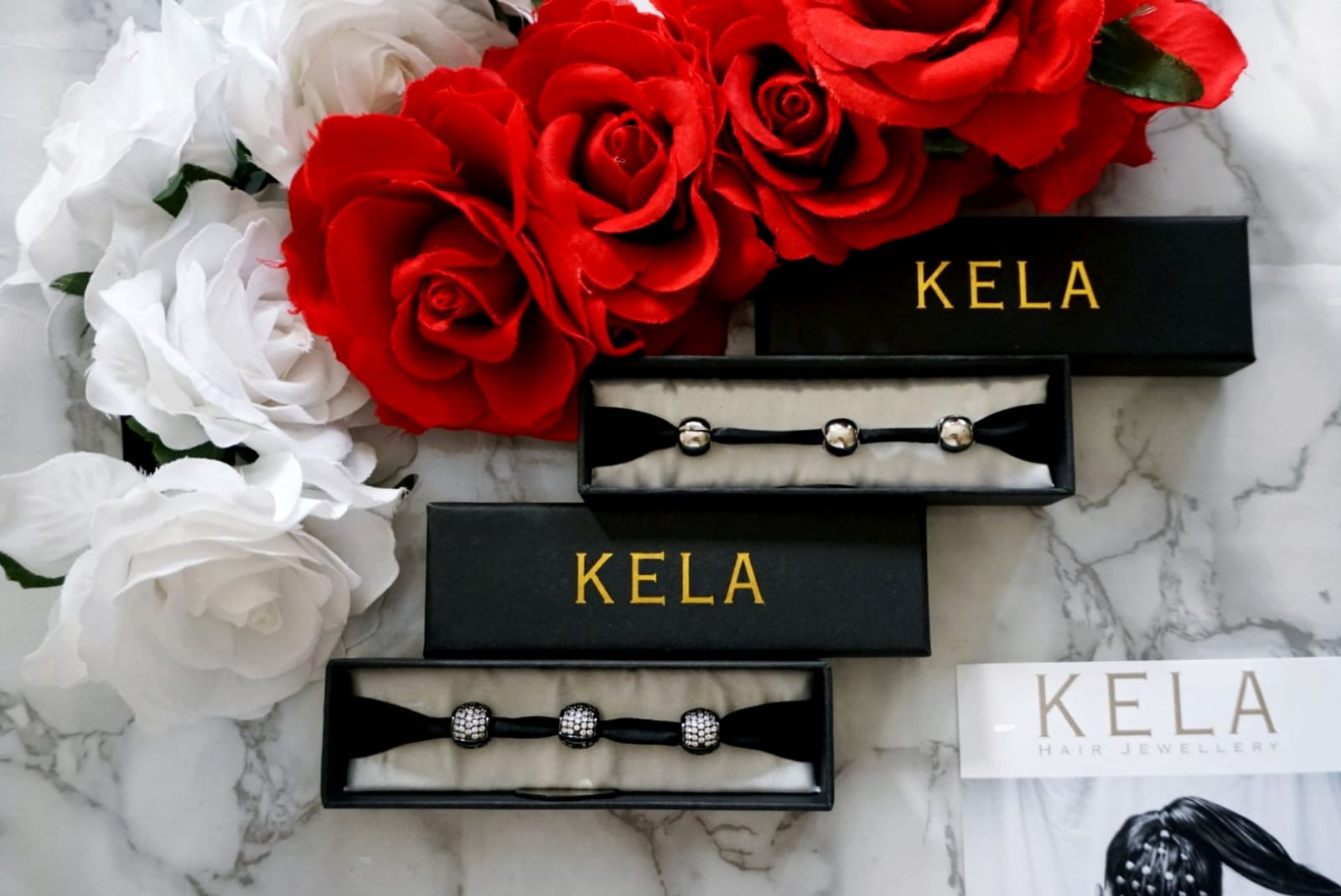 THE WORLD'S MOST LUXURIOUS NON-SLIP HAIR JEWELLERY CHARMS BY KELA HAIR