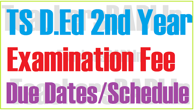TS D.Ed 2nd Year,Examination Fee,Due Dates Notification