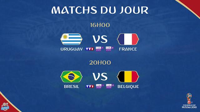 World cup 2018 iptv - Uruguay V france - brasil V belgium
