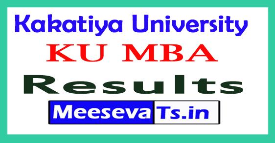 Kakatiya University MBA 1st Yr 1st Sem Results 2017