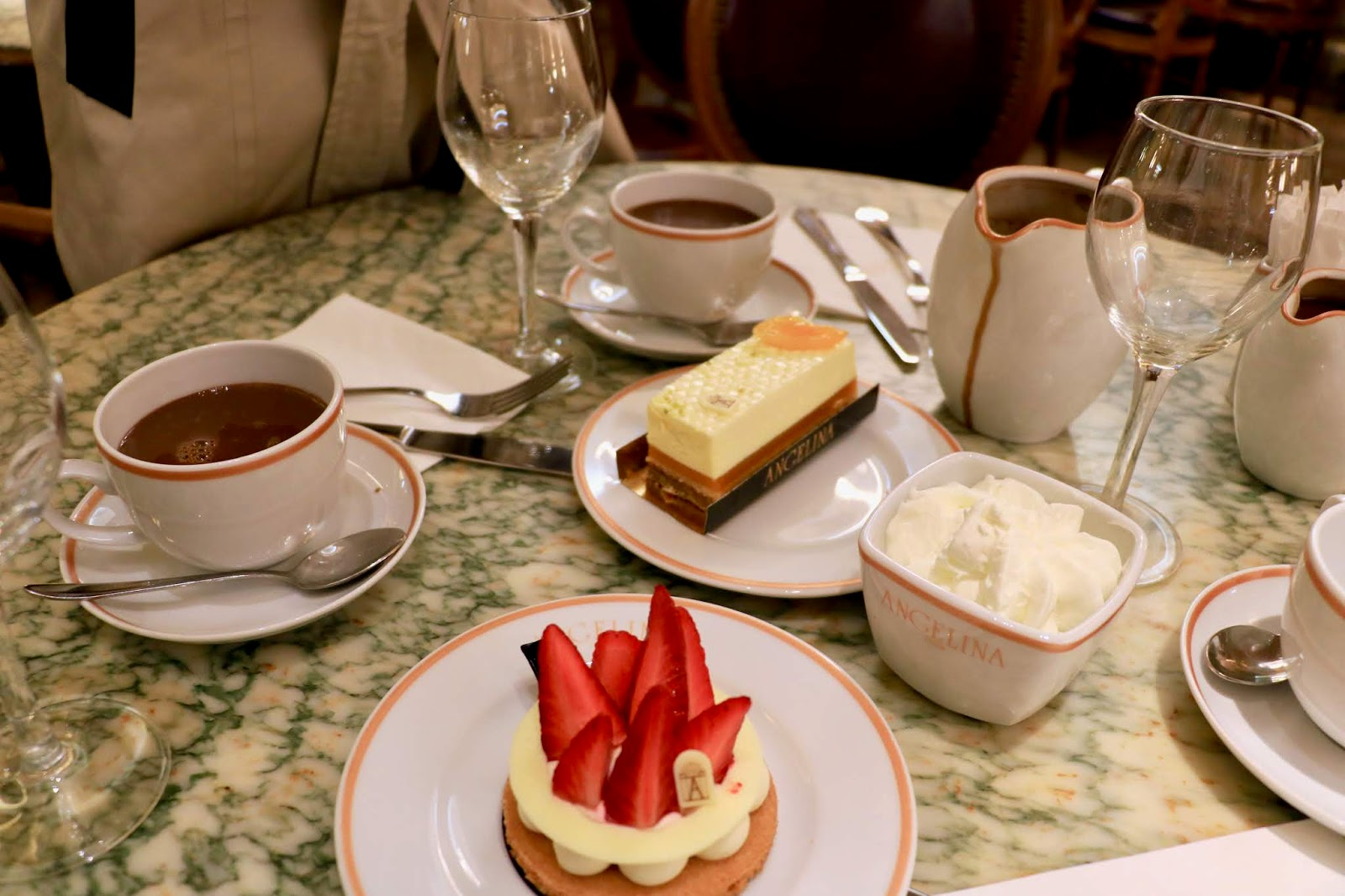 Pastries from Angelinas Tea House in Paris