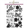 Altenew FLORAL SHADOW Clear Stamp Set