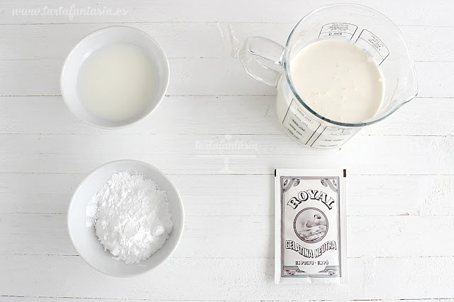 Ingredientes para la Nata o crema de leche extra firme