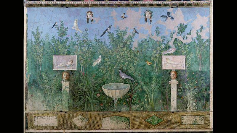 Fresco de la Casa Brazalete. Pompeya.