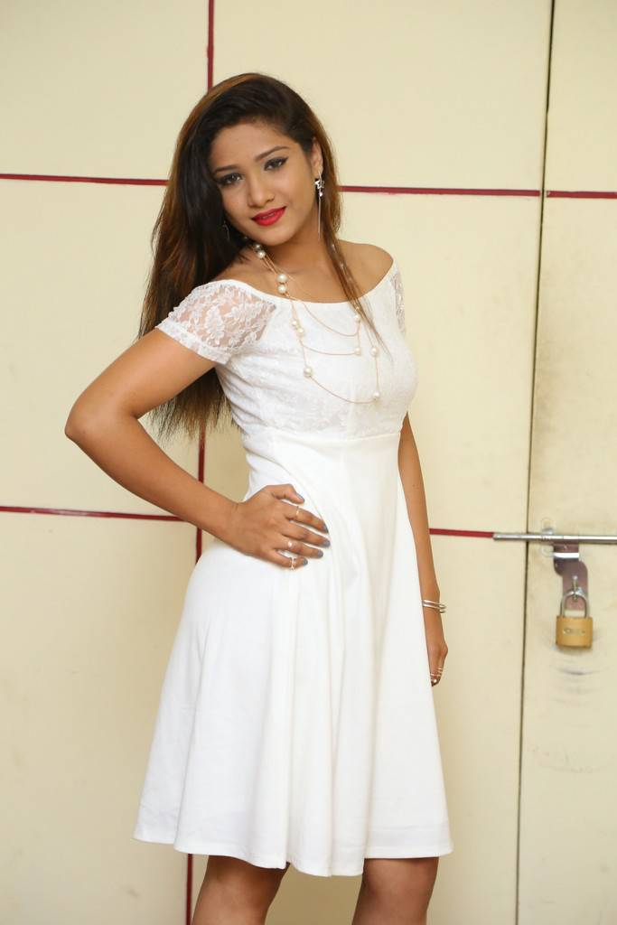 Actress Aarthi In Spicy White Frock Stills